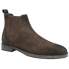 Frank Wright - Brown 'Wyatt' men's slip on chelsea boots