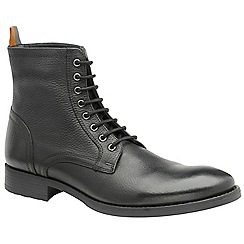 Frank Wright - Black 'Birch' men's lace up military style boots