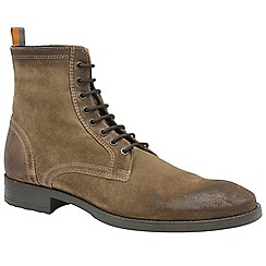 Frank Wright - Taupe 'Birch' men's lace up military style boots
