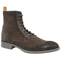 Frank Wright - Brown 'Birch' men's lace up military style boots