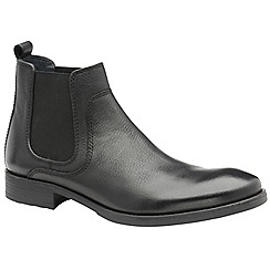 Frank Wright - Black 'Willow' men's slip on chunky chelsea boots