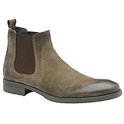 Frank Wright - Sand 'Willow' men's slip on chunky chelsea boots
