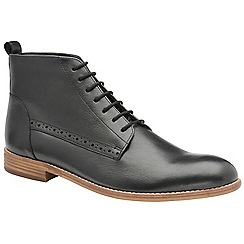 Frank Wright - Black 'Eden' men's lace up derby boots