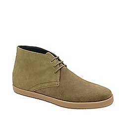 Frank Wright - Sand 'Bronco' lace up casual boots