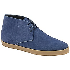 Frank Wright - Blue 'Bronco' lace up casual boots