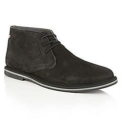 Frank Wright - Black Leather 'Barnet II' mens lace up boots
