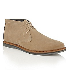 Frank Wright - Sand Suede 'Barnet II' mens lace up boots