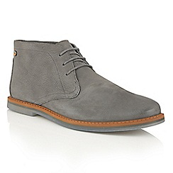 Frank Wright - Pewter Leather 'Barnet II' lace up mens boots