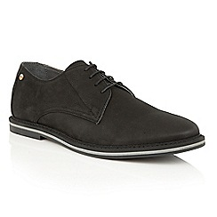 Frank Wright - Black Leather 'Woking II' mens lace up shoes