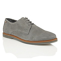 Frank Wright - Pewter Leather 'Woking II' mens lace up shoes