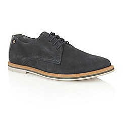 Frank Wright - Navy Suede 'Woking II' mens lace up shoes