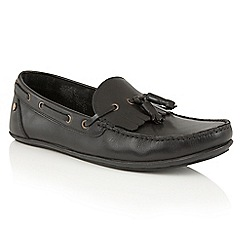 Frank Wright - Black 'Nevis II' mens slip on casual loafers