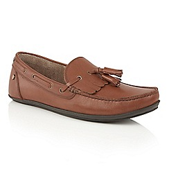 Frank Wright - Brown 'Nevis II' mens slip on casual loafers