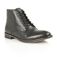 Frank Wright - Black 'Oval' lace-up boots