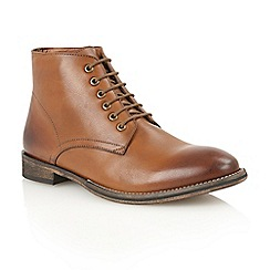 Frank Wright - Tan leather 'Oval' lace-up boots