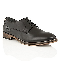 Frank Wright - Black leather 'Merton' formal lace-up shoes
