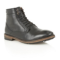 Frank Wright - Black 'Acton' lace-up boots