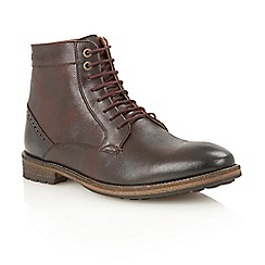 Frank Wright - Ox blood 'Acton' lace-up boots