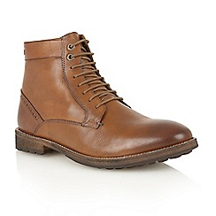 Frank Wright - Tan 'Acton' lace-up boots