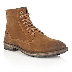 Frank Wright - Rust Suede ' Acton' mens lace up boots