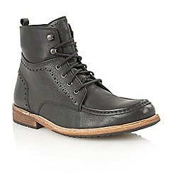 Frank Wright - Black 'Angel' lace-up ankle boots