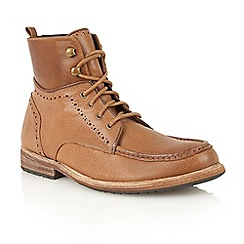 Frank Wright - Tan 'Angel' lace-up ankle boots