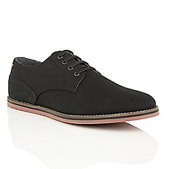 Frank Wright - Black Canvas 'Palma' canvas lace up shoes