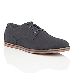 Frank Wright - Navy Canvas 'Palma' canvas lace up shoes