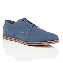 Frank Wright - Blue Canvas 'Palma' canvas lace up shoes