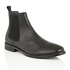 Frank Wright - Black Leather 'Omar' mens chelsea boots