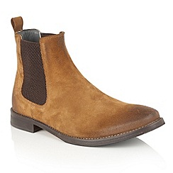 Frank Wright - Tan Suede 'Omar' mens chelsea boots