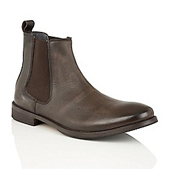 Frank Wright - Brown Leather 'Omar' mens chelsea boots