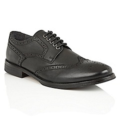 Frank Wright - Black Leather 'Merc' brogue derby shoes