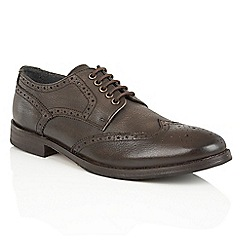 Frank Wright - Brown Leather 'Merc' brogue derby shoes