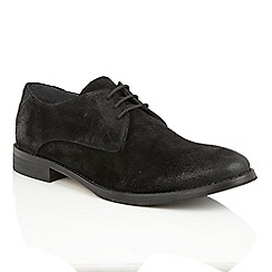 Frank Wright - Black Suede 'Stringer' lace up derby shoes