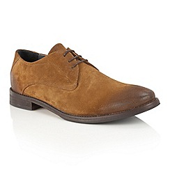 Frank Wright - Tan Suede 'Stringer' lace up derby shoes