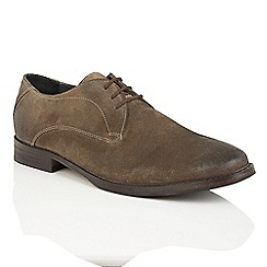 Frank Wright - Stone Suede 'Stringer' lace up derby shoes