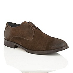 Frank Wright - Brown Suede 'Stringer' lace up derby shoes