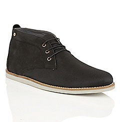 Frank Wright - Black 'Roper' mens lace up chukka boots