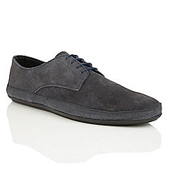 Frank Wright - Navy Suede 'St. Lucia' mens lace-up loafers