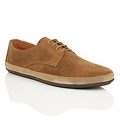 Frank Wright - Dark Tan 'St. Lucia' mens lace-up loafers