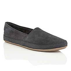 Frank Wright - navy suede 'Havana' mens espadrille pumps