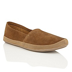 Frank Wright - Dark Tan 'Havana' mens espadrille pumps