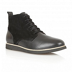 Frank Wright - Black 'Drake' leather and suede boots