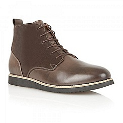 Frank Wright - Brown 'Drake' leather and suede boots
