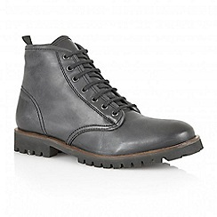 Frank Wright - Black 'Tidy' leather lace-up boots