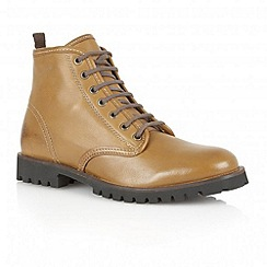 Frank Wright - Light tan 'Tidy' leather lace-up boots