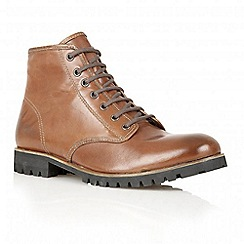 Frank Wright - Brandy 'Tidy' leather lace-up boots