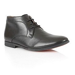 Frank Wright - Black empire leather 'Reid' lace up boots