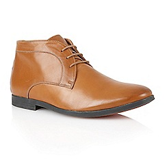 Frank Wright - Tan empire leather 'Reid' lace up boots